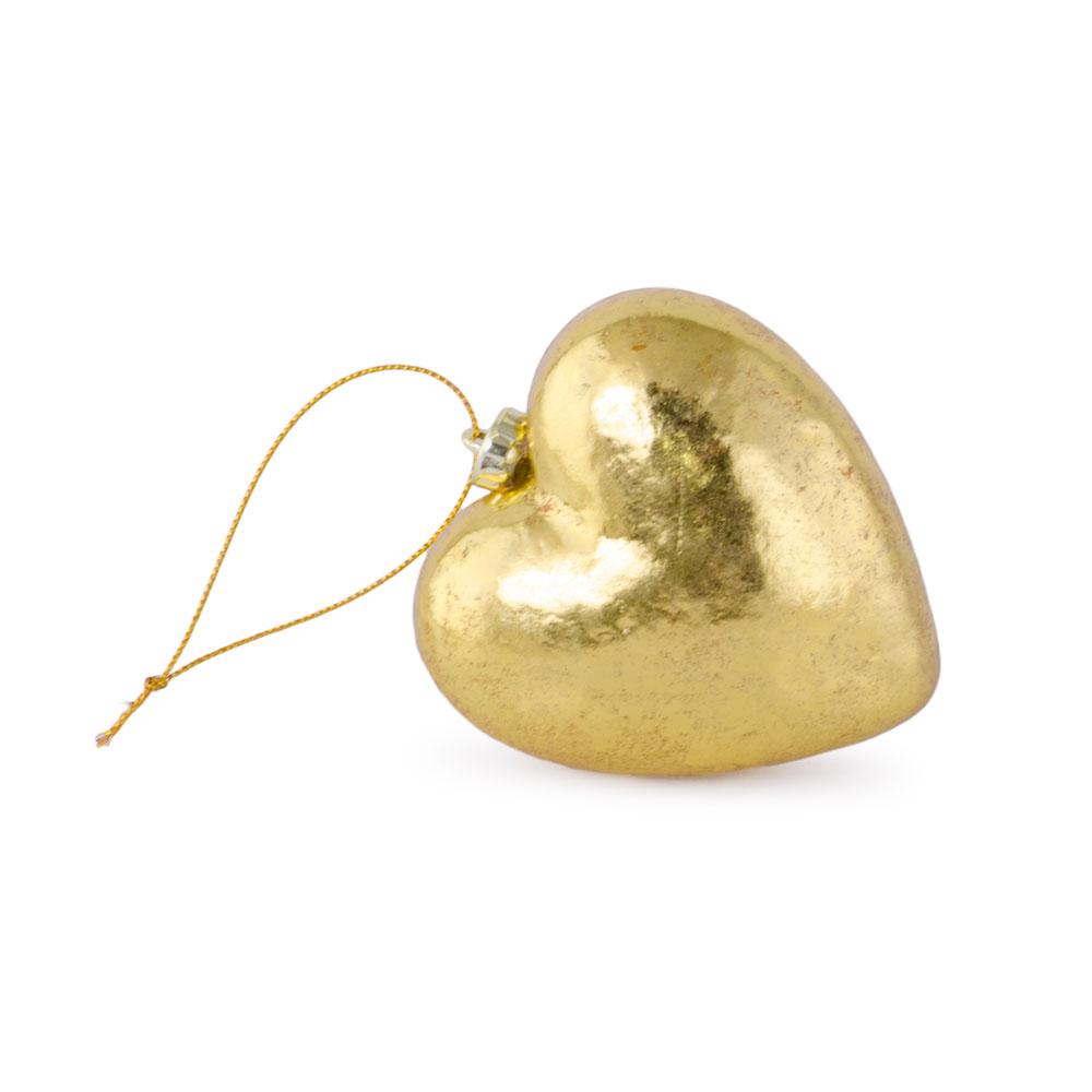 Glob in forma de inima, auriu