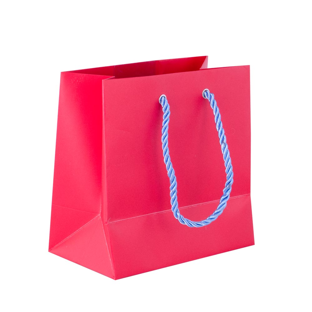 Punga de cadouri, din carton, rosie