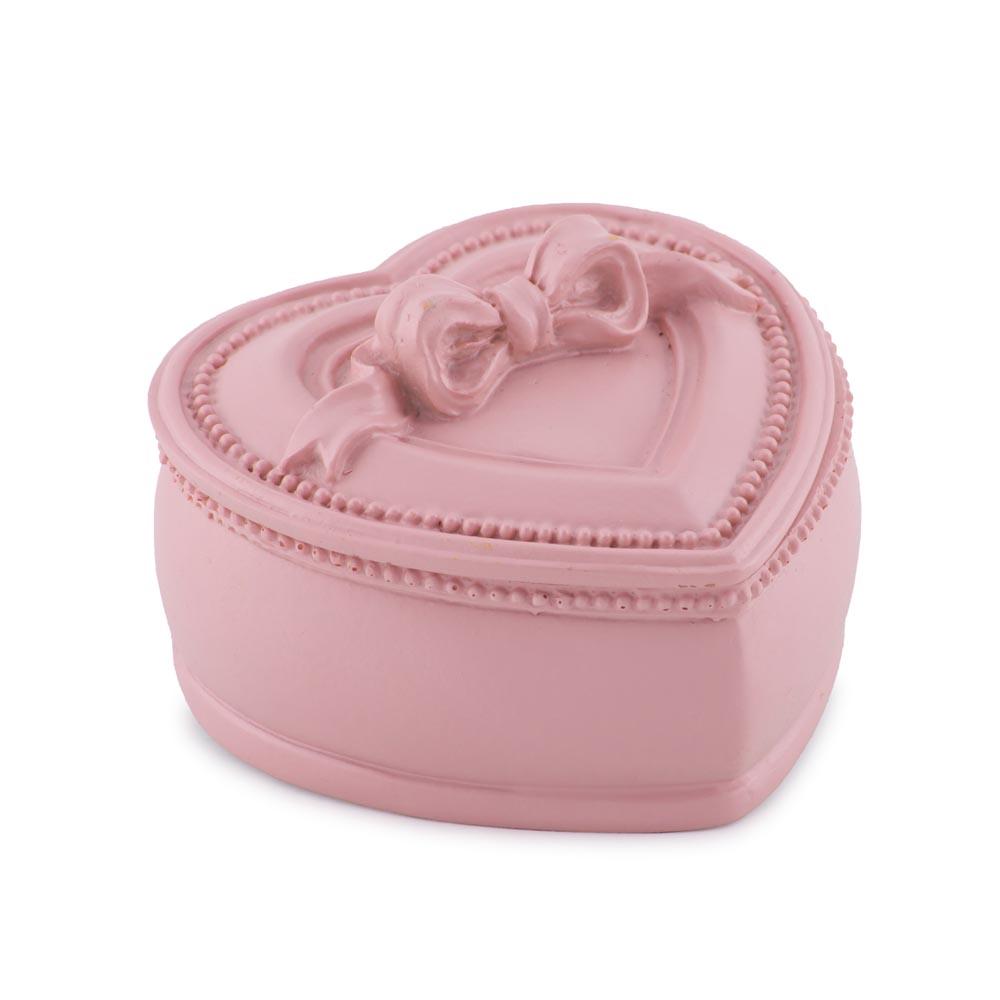 Cutie bijuterii, inimioara, roz