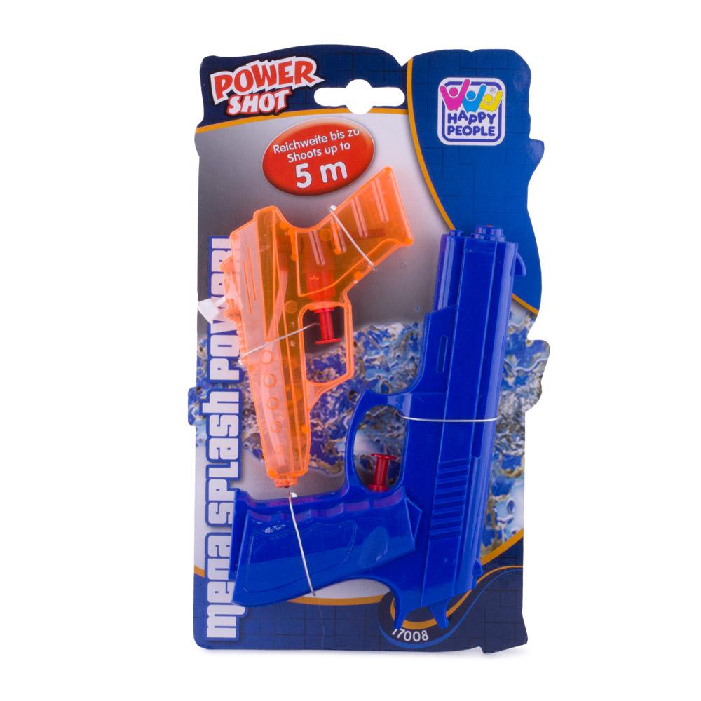 Set 2 pistoale cu apa, Happy People, bleumarin si portocaliu