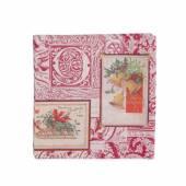 Servetele de Craciun Ideal home range, rosu-crem