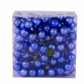 Set 3 buchetele globuri, albastre, lucios-mat