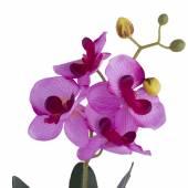 Ghiveci orhidee artificiala, roz deschis