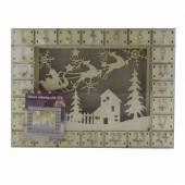 Calendar decorativ de Craciun, din lemn