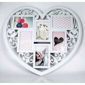 Rama foto din lemn, model-inima