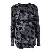Pulover dama tricotat, negru-gri