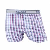 Sort barbati, Police, cu patratele albastru-rosu-alb
