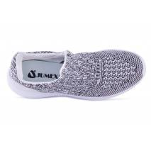 Sneakers, Jumex Collection, gri-alb cu talpa alba
