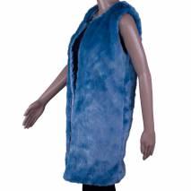 Vesta dama, REmarcabil, de blana, albastru
