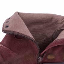 Botine, piele naturala, Lavorazione Artigiana, bordo cu tinte