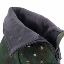 Botine piele naturala, Lavorazione Artigiana, verde cu tinte