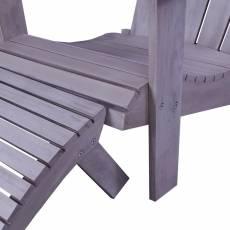 Scaun Tchibo, de gradina, din lemn, gri