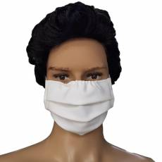 Masca protectie, material textil, alba, din bumbac