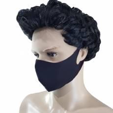 Masca protectie, material textil, neagra cu interior rosu