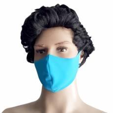 Masca protectie, material textil, albastru-deschis