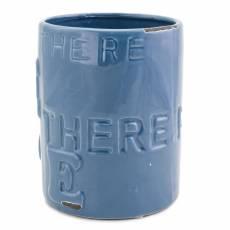 Vaza decorativa, din ceramica, albastra