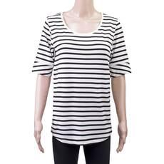 Tricou dama, cu dungi, alb-negru