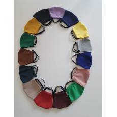 Masca protectie din material textil, multicolora