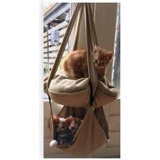 Hinta din material textil pentru pisici, bej
