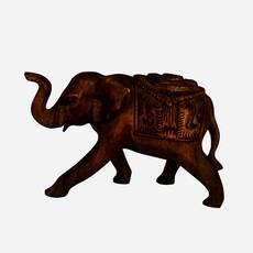 Statueta elefant din lemn