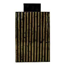 Decoratiune de interior, din lemn, negru-auriu