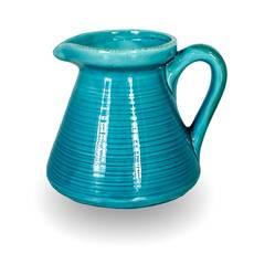 Cana pentru lapte, din ceramica, turcoaz