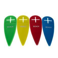 Set 4 intinzatori pentru  prosoape de plaja