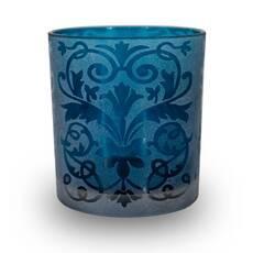 Suport candela, albastru