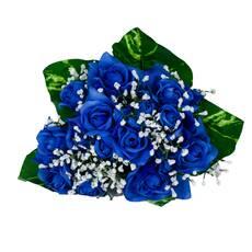 Buchet de trandafiri, albastri