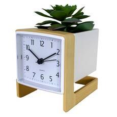 Ceas de masa, cu floare decorativa
