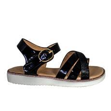 Sandale fetite lacuite, cu sclipici