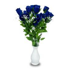 Buchet trandafiri albastri
