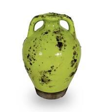 Vaza vintage verde, in forma de ulcior