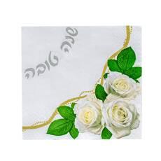 Servetele de masa cu trandafiri albi