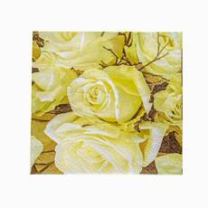 Servetele de masa cu trandafiri galbeni