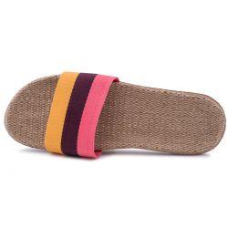 Slapi dama, multicolori, roz-galben