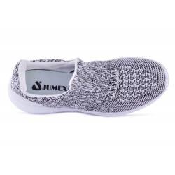 Sneakers, Jumex Collection, gri-alb cu talpa alba