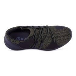 Sneakers, Jumex Collection, verde-negru cu sireturi
