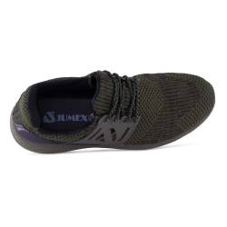 Sneakers, Jumex Collection, verde-negru cu siret