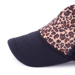 Sapca, Tally Weijl, negru, cu imprimeu-leopard