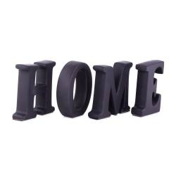 """Set 4 litere """"HOME"""", ceramica, negru"""