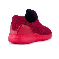 Sneakers, Jumex Collection, rosu-negru fara sireturi