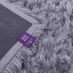 Covor dreptunghiular, Tom Tailor, gri, pufos, 70 x 140 cm