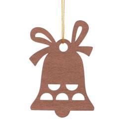 Set 3 decoratiuni, pentru brad, din lemn, maro