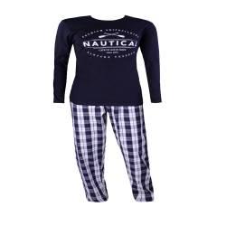 Pijamale barbati Livergy, negru-alb