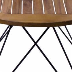 Masa Tri Colore, de exterior, din lemn masiv, maro