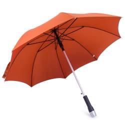 Umbrela cu maner din inox, portocaliu-caramiziu