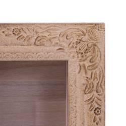 Dulapior dreptunghiular decorativ de perete, din lemn, maro