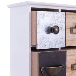 Cutie de bijuterii, cu 4 sertare, decorativa, din lemn
