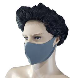 Masca protectie, material textil, gri